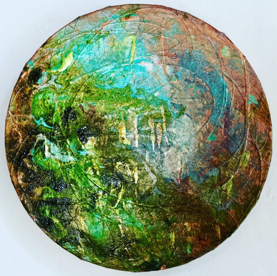 An impressionistic painting of Earth.